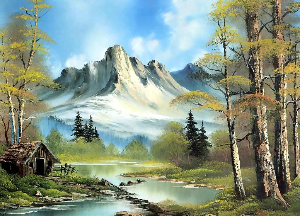 Pintura vulcão