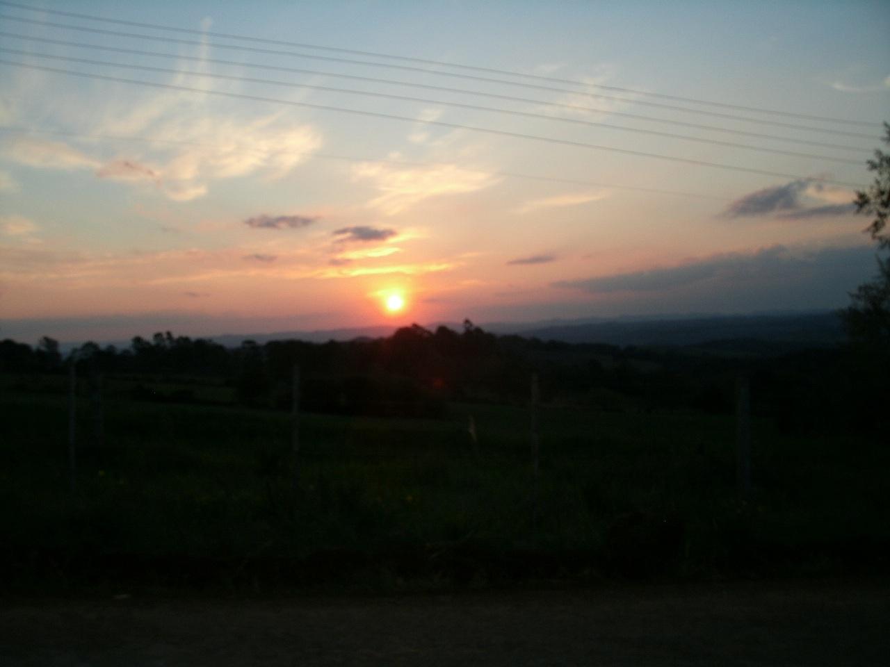 Por do sol em Fagundes Varela