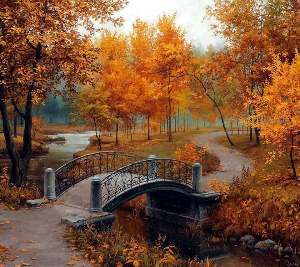 Ponte arvores coloridas